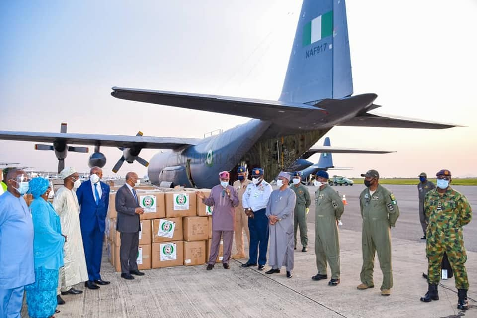 COVID-19: NAF COMMENCES AIRLIFT OF ESSENTIAL MEDICAL MATERIALS PROCURED BY WAHO TO 13 ECOWAS COUNTRIES