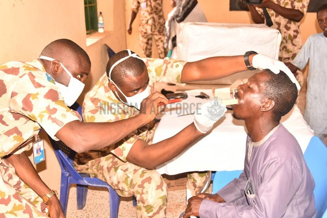 NAF FLAGS-OFF 3-DAY MEDICAL OUTREACH FOR FLOOD VICTIMS IN WAURU JABBE COMMUNITY, ADAMAWA STATE
