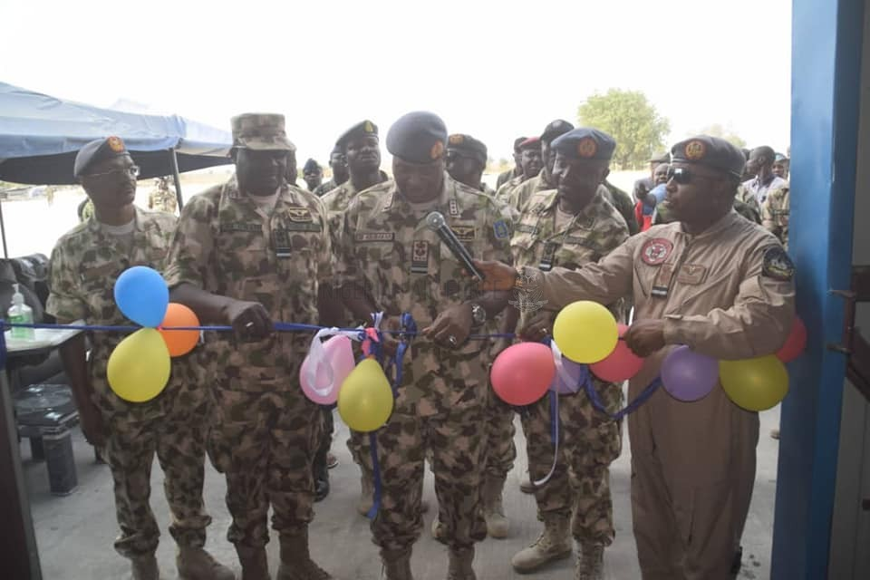 OPERATIONAL VISIT: CAS RESTATES COMMITMENT TO ENSURING SECURITY IN NORTHEAST AS HE COMMISSIONS AIRCRAFT HANGAR IN MAIDUGURI