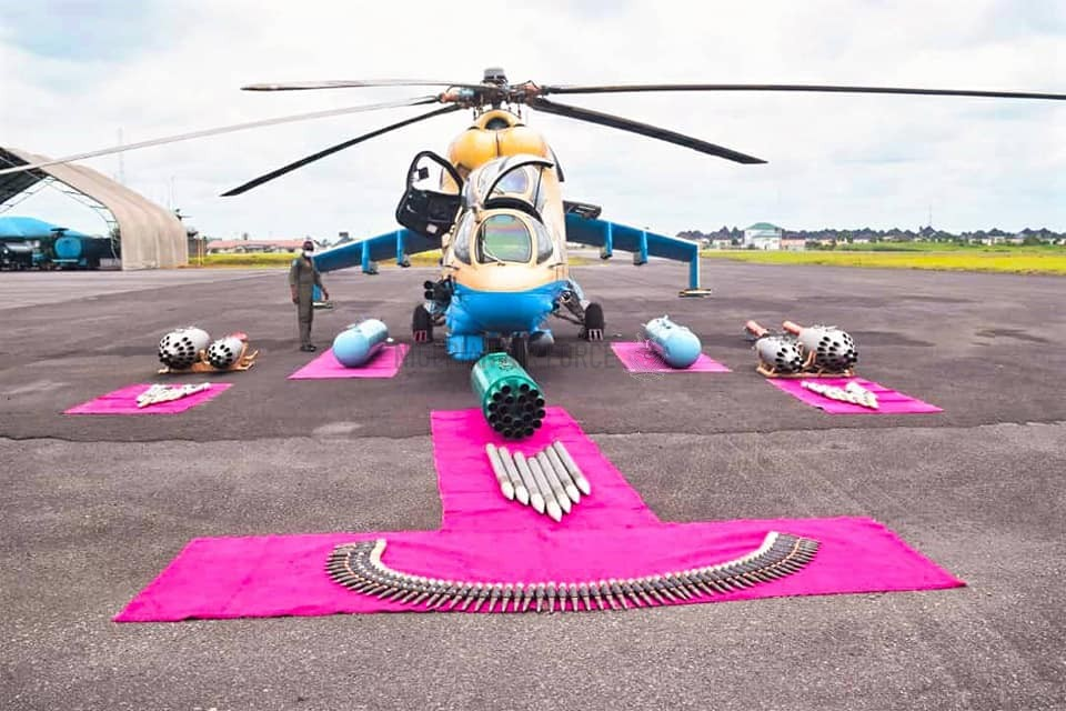 NAF COMPLETES REACTIVATION OF ANOTHER COMBAT HELICOPTER AS CAS COMMISSIONS TAILORING WORKSHOP PRODUCING PPEs, FACE MASKS IN PORT HARCOURT