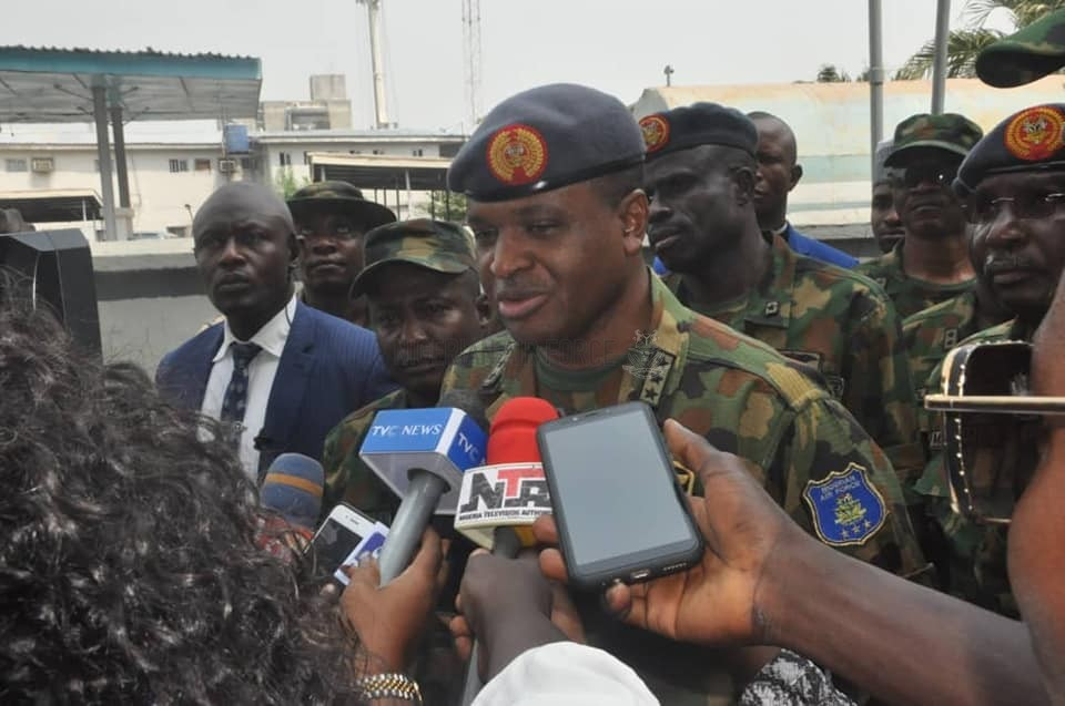 OPERATIONAL VISIT: CAS INSPECTS ONGOING PROJECTS IN LAGOS, REASSURES OF NAF's COMMITMENT TO WELFARE OF PERSONNEL
