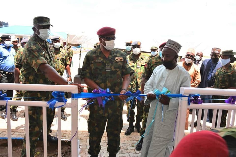 ANTI-BANDITRY: CAS CHARGES PERSONNEL TO SUSTAIN ONSLAUGHT AGAINST ARMED BANDITS AS HE COMMISSIONS INFRASTRUCTURAL PROJECTS AT 271 NAF DETACHMENT BIRNIN GWARI