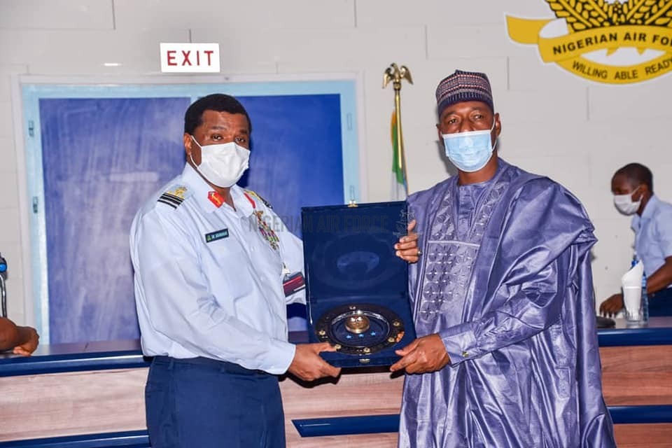 GOVERNOR ZULUM COMMENDS NAF's CONSISTENT RESPONSIVENESS IN COUNTER INSURGENCY OPERATIONS, AS CAS ASSURES OF MORE SUPPORT FOR DECISIVE DEFEAT OF INSURGENTS