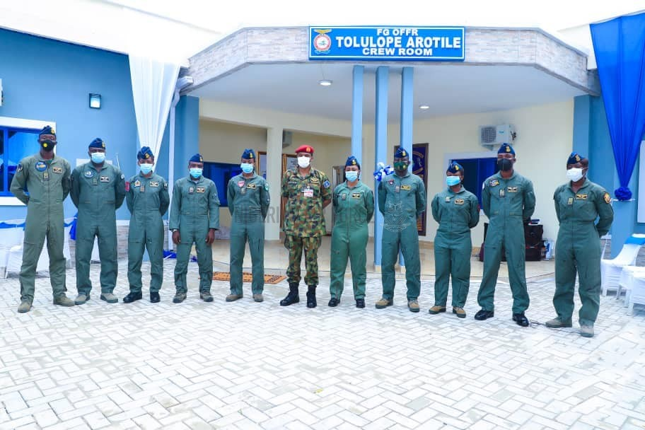 NAF IMMORTALIZES LATE FIRST COMBAT HELICOPTER PILOT, FLYING OFFICER TOLULOPE AROTILE, AS CAS COMMISSIONS INFRASTRUCTURAL PROJECTS IN PORT HARCOURT