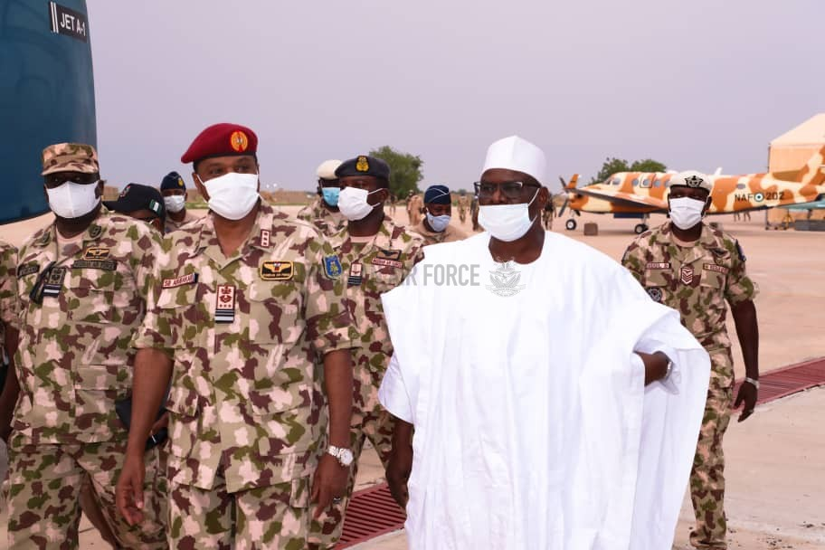 COUNTER-INSURGENCY: CAS PLAYS HOST TO SENATOR FOR BORNO SOUTH AT AIR TASK FORCE HEADQUARTERS IN MAIDUGURI