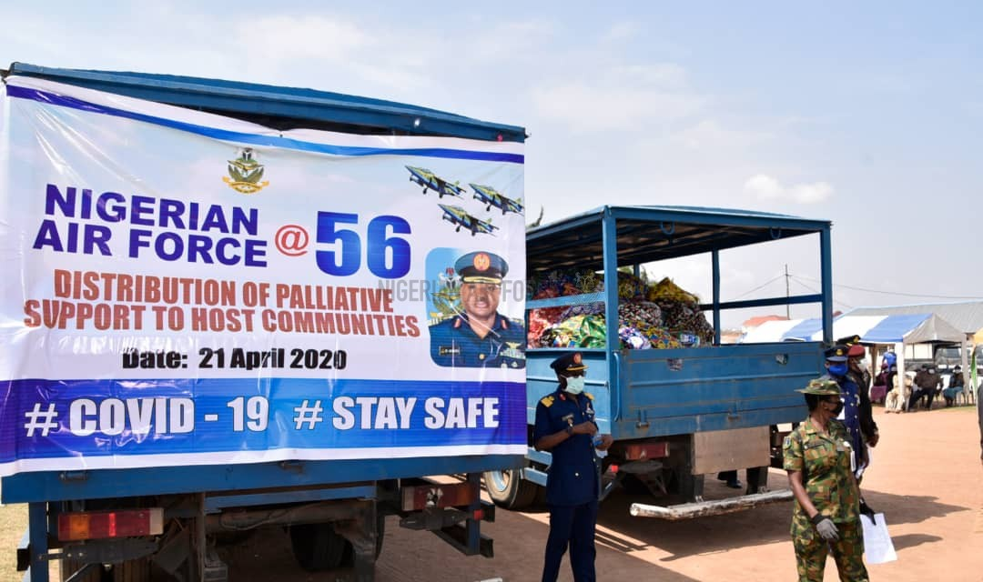 NAF@56: NAF DISTRIBUTES FOOD ITEMS, OTHER PALLIATIVES TO HOST COMMUNITIES IN ABUJA TO MARK ITS 56th ANNIVERSARY
