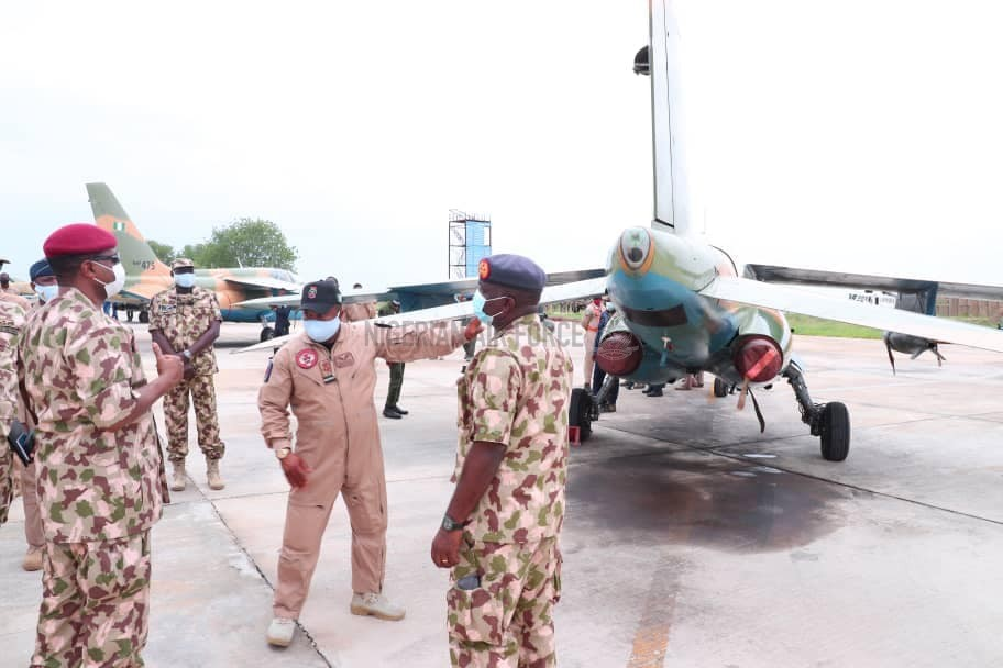 COUNTER-INSURGENCY: CAS COMMENDS AIR TASK FORCE, CHARGES THEM TO INTENSIFY OPERATIONS FOR TOTAL DEFEAT OF INSURGENTS