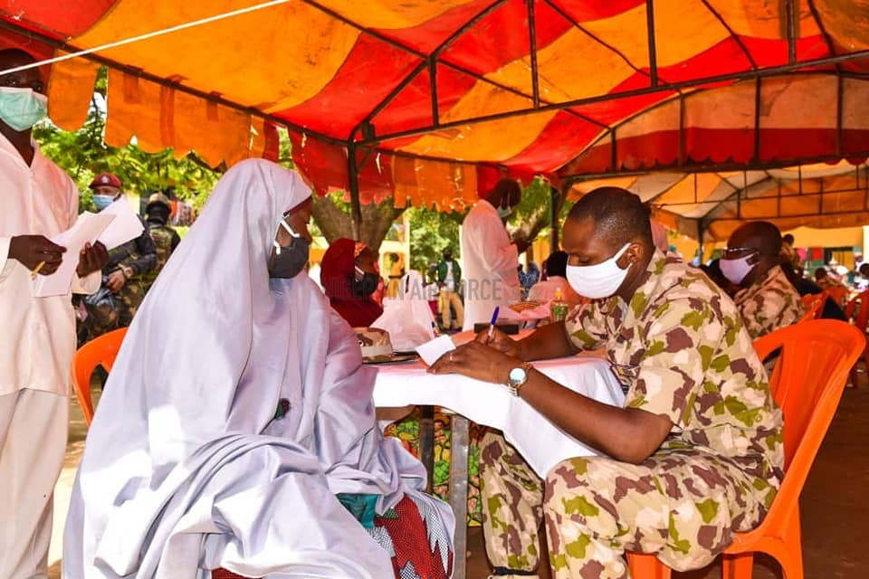 TACKLING ARMED BANDITRY: NAF TAKES FREE HEALTHCARE SERVICES TO DISPLACED PERSONS IN FASKARI, KATSINA STATE